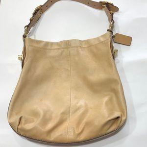 Coach Peyton Leather Shoulder Caramel Bag